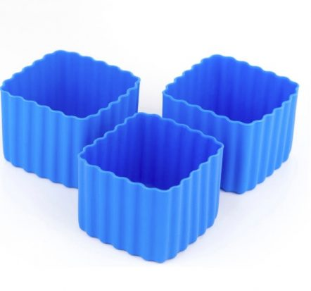 The Little Lunch Box Co Square Bento Cups Blue