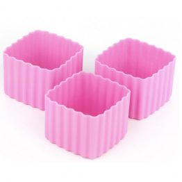 The Little Lunch Box Co Square Bento Cups Pink