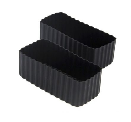 The Little Lunch Box Co Rectangle Bento Cups Black