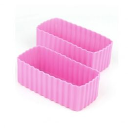 The Little Lunch Box Co Rectangle Bento Cups Pink