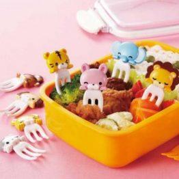 Bento Animal Fork Food Picks