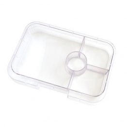 Bento Yumbox Tapas Clear Interchangeable Tray Insert ~ 4 Compartment