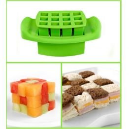 FunBites Green Squares Sandwich Cutter