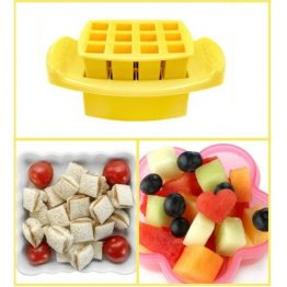 FunBites Yellow Squares Sandwich Cutter