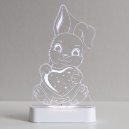 Aloka Bunny Rabbit LED Sleepy Light USB Night Light with Remote