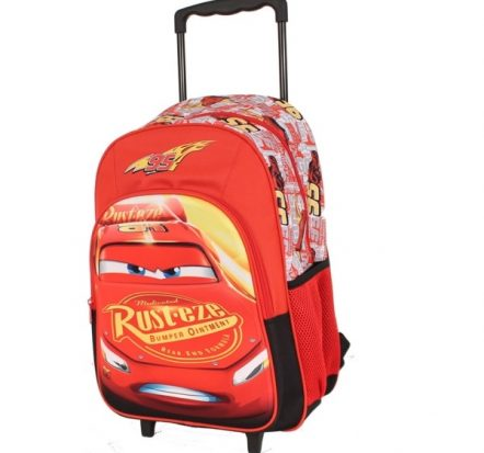 Disney Cars Lightning McQueen Trolley Backpack Suitcase
