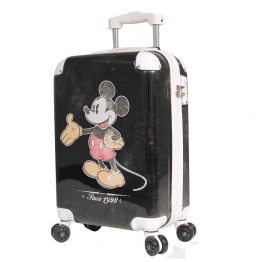 Disney Vintage Mickey Mouse Hard Shell 19 Inch Suitcase