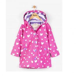 Hatley Girls Colour Changing Floating Hearts Splash Jacket Raincoat