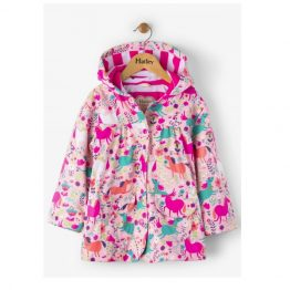 Hatley Girls Roaming Horses Classic Raincoat