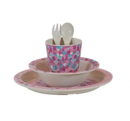 Bobble Art Confetti Bamboo Tableware