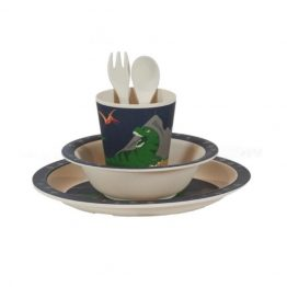Bobble Art Dinosaurs Bamboo Tableware