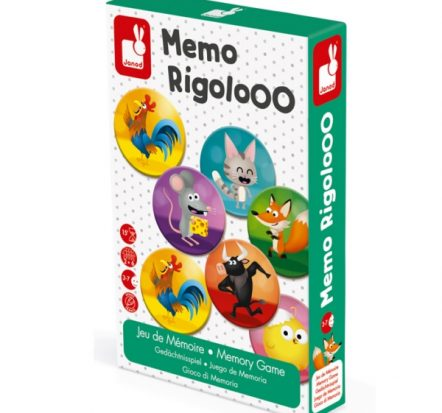 Janod Rigolooo Animal Memory Game