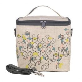 SoYoung Eco Linen Large Cooler Lunch Bag Formation