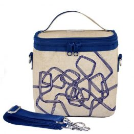 SoYoung Eco Linen Large Cooler Lunch Bag Pathways