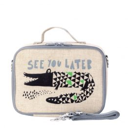 SoYoung Wee Gallery Alligator Eco Linen Lunch Box