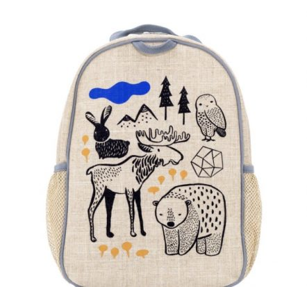 SoYoung Eco Linen Toddler Backpack Wee Gallery Nordic