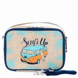 SoYoung Yumbox Blue Surfs Up Eco Linen Lunch Box