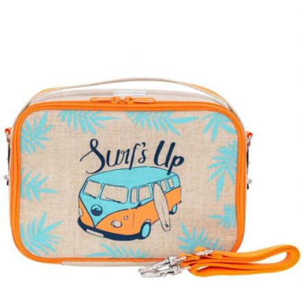 SoYoung Yumbox Orange Surfs Up Eco Linen Lunch Box