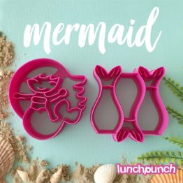 Lunch Punch Pairs Sandwich Cutters Mermaid