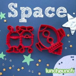 Lunch Punch Pairs Sandwich Cutters Space