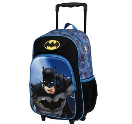 DC Comics Batman Black Trolley Backpack Suitcase