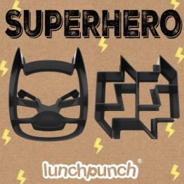Lunch Punch Pairs Sandwich Cutters Superhero