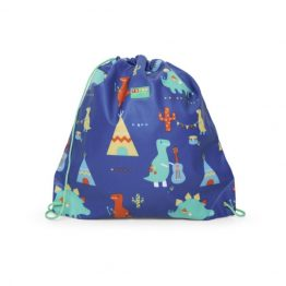 Penny Scallan Library Swim Drawstring Bag Dino Rock