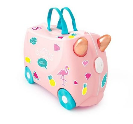 Trunki Kids Ride On Suitcase Flossi Flamingo