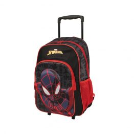 Marvel Spiderman Red Trolley Backpack Suitcase