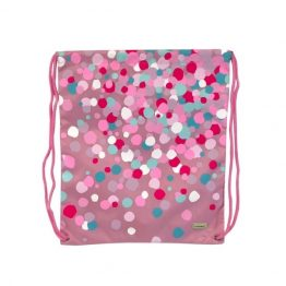 Bobble Art Drawstring Swim Library Bag Confetti