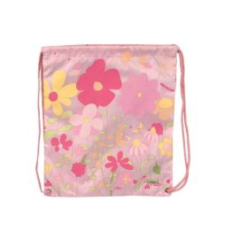 Bobble Art Drawstring Swim Library Bag Garden
