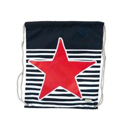Bobble Art Drawstring Swim Library Bag Star and Stripe
