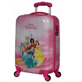 Disney Princesses Pink Hard Shell 19 Inch Suitcase