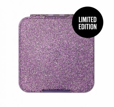 The Little Lunch Box Co Bento Three Glitter Purple LIMITED EDITION