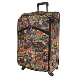 Marvel Avengers Comic Print Large Soft Trolley Suitcase 28""