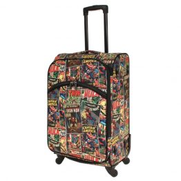 Marvel Avengers Comic Print Medium Soft Trolley Suitcase 24""