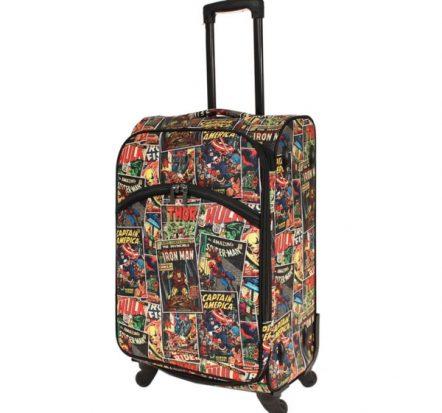 "Marvel Avengers Comic Print Medium Soft Trolley Suitcase 24"""