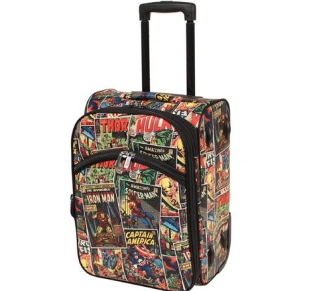 Marvel Avengers Comic Print Small Soft Trolley Suitcase 18""
