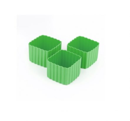 The Little Lunch Box Co Square Bento Cups Green