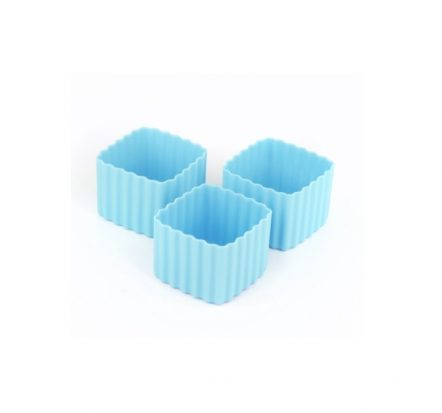 The Little Lunch Box Co Square Bento Cups Light Blue
