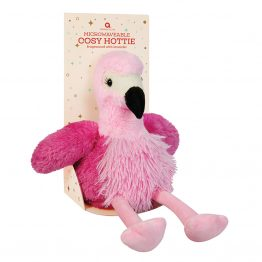 aroma home pink flamingo-cosy-hottie-kids heat pack