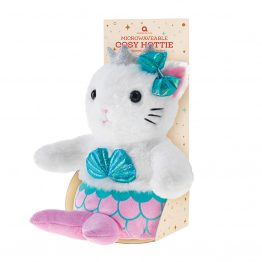 aroma home mermaid-cat kids heat pack
