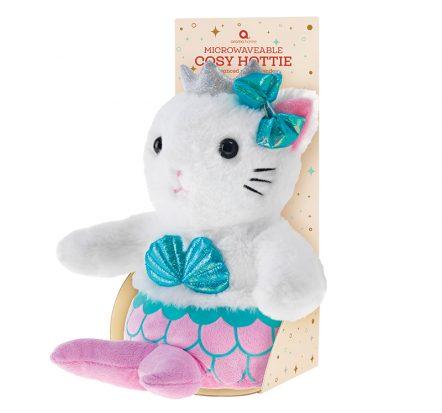 aroma home mermaid-cat kids heat pack