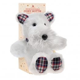 aroma home scottie dog cosy hottie kids heat pack