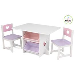 KidKraft Heart Table & Chairs