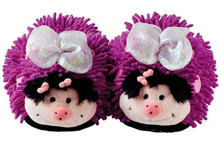 Aroma-home-butterfly-fuzzy-slippers