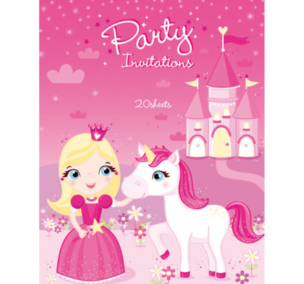 Pretty Princess Invitations