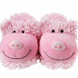 Fuzzy Slippers Pig Product [1600x1200]