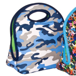 Go Gourmet Junior Lunch Tote Blue Camo