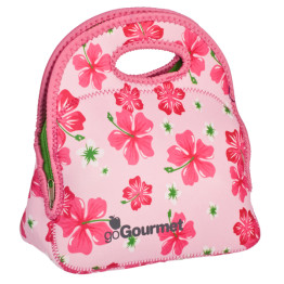 Go Gourmet Junior Lunch Tote Pink Hibiscus